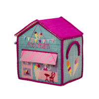 Ice Cream Parlour Small Style Raffia Toy Basket Rice DK